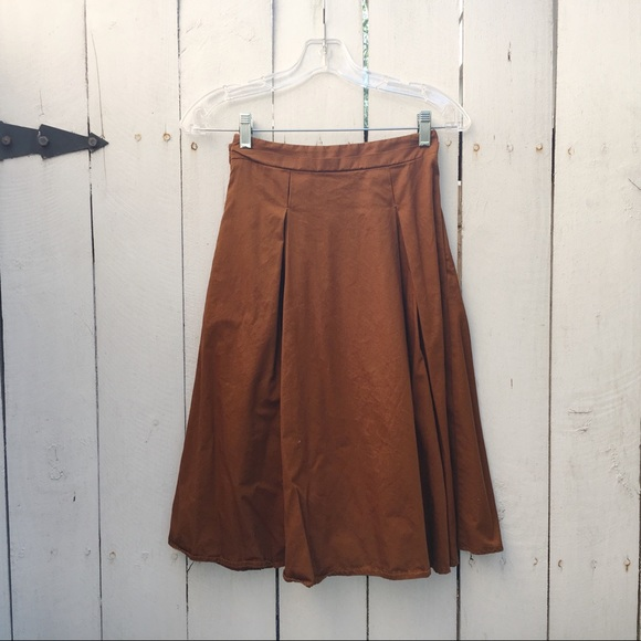 Clothing, Shoes & Accessories Beautiful Brown Skirt Med